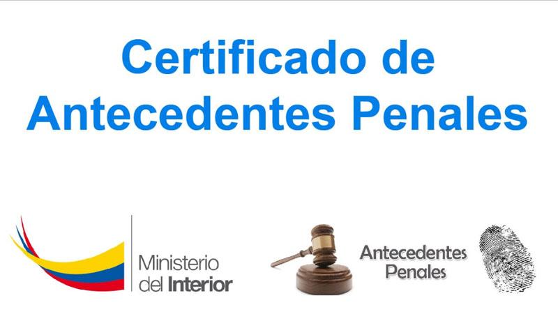 certificado antecedentes penales
