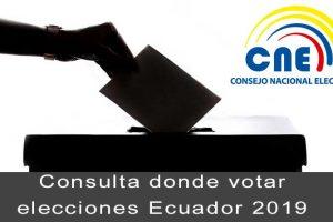 consulta donde votar ecuador 2019