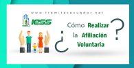 afiliacion voluntaria al iess